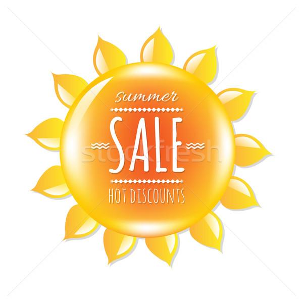 Summer Sale Banner With Symbol Sun Stock photo © cammep