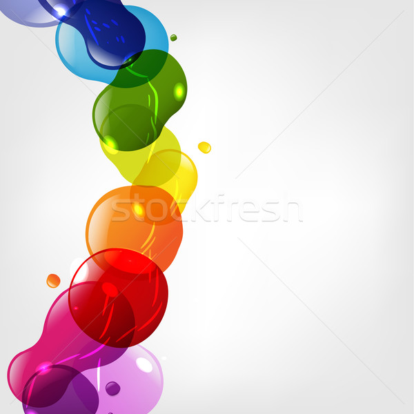 Color Neon Blobs With Bokeh Stock photo © cammep