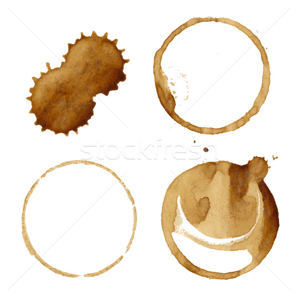 Coffee Stains Set Stock photo © cammep