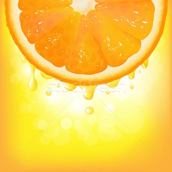 オレンジ セグメント ジュース ぼけ味 ベクトル 食品 ストックフォト © cammep