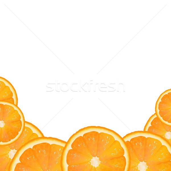 Orange Fruit Border Stock photo © cammep