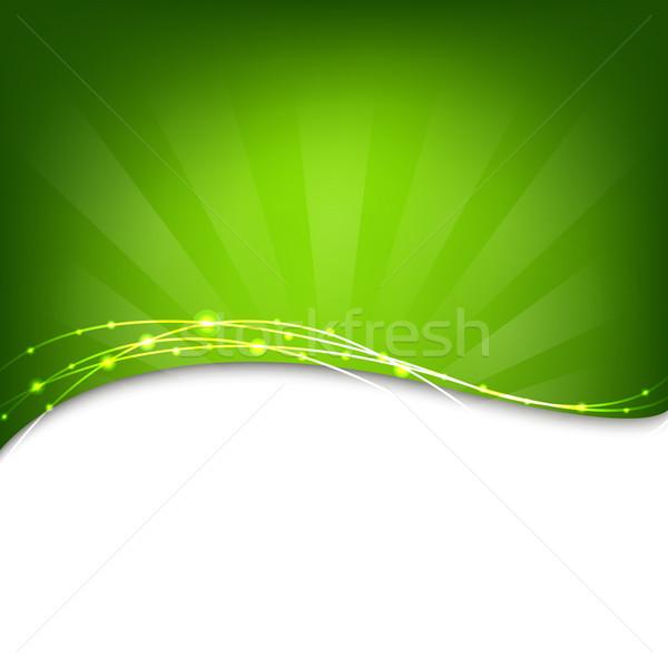 Green Background With Sunburst Stock photo © cammep