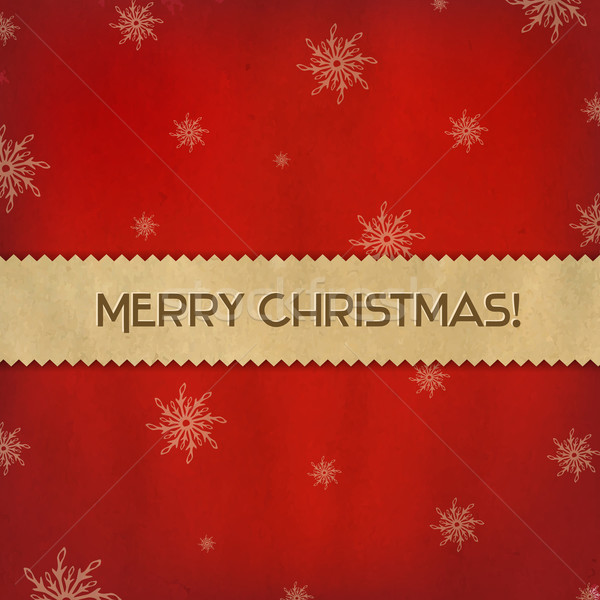 Red Christmas Background With Paper Divider Stock photo © cammep