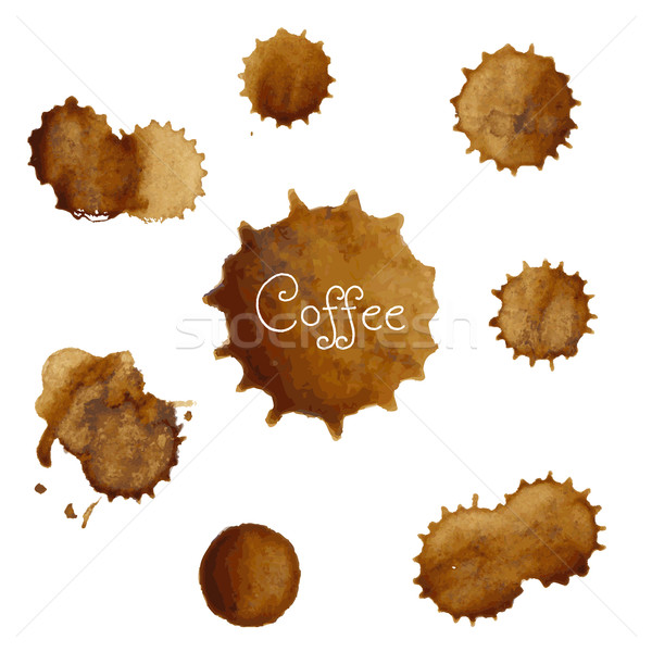 Coffee Stains Big Set Stock photo © cammep
