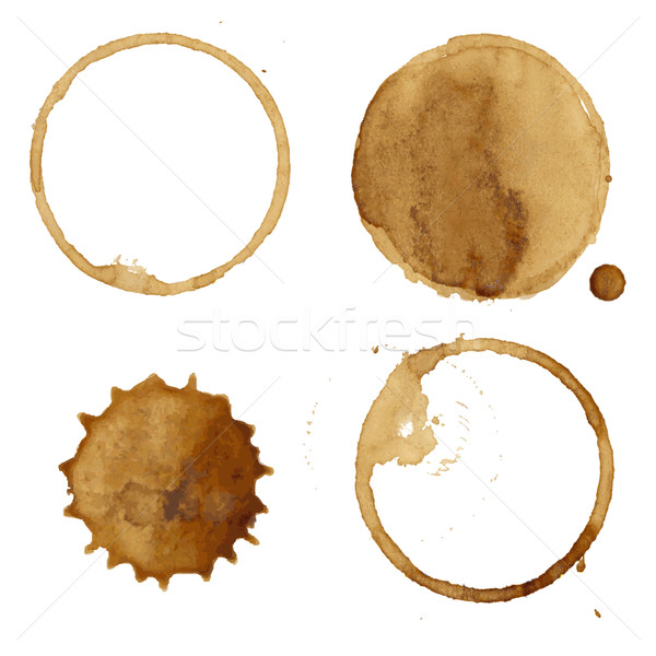 Coffee Stains Collection Stock photo © cammep