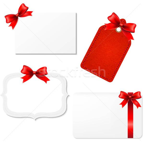 Big Set Blank Gift Tags  Stock photo © cammep