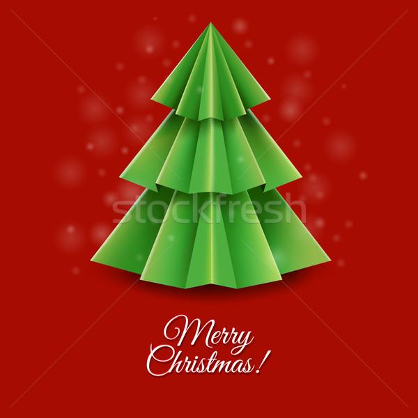 Stok fotoğraf: Noel · tebrik · kartı · eğim · ağaç · sanat