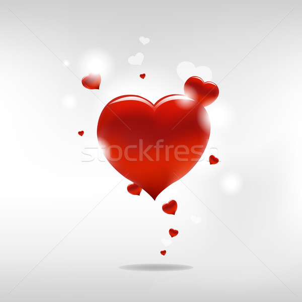 Stock photo: Valentine Background With Heart And Paper