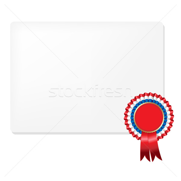 Ribbon Rosette Badge Stock photo © cammep
