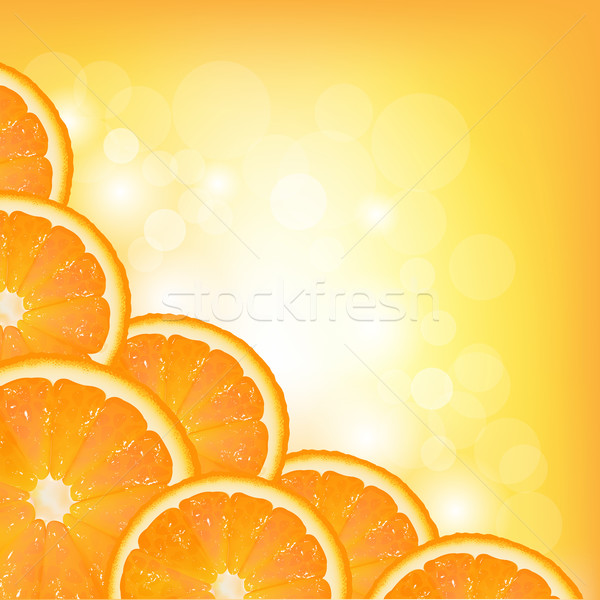 Orange Segment Frame Stock photo © cammep