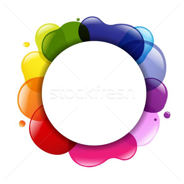 Dialog Balloon And Color Stock photo © cammep