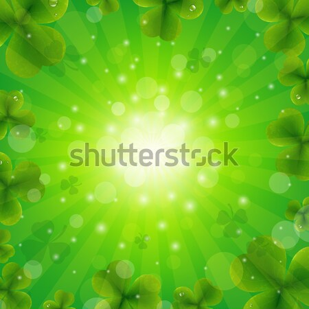 Patrick Day Green Background Stock photo © cammep