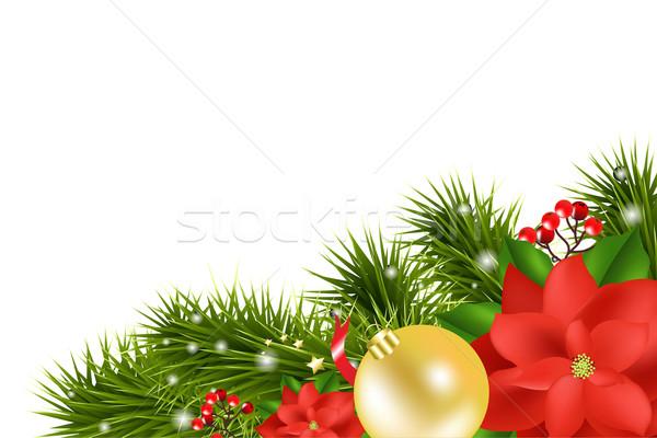 Stock fotó: Karácsony · kártya · izolált · fehér · papír · boldog