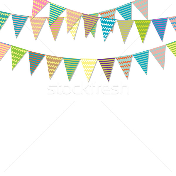 Vintage Bunting Flags Stock photo © cammep