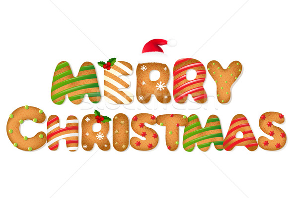 Christmas Gingerbread Cookie Text Stock photo © cammep