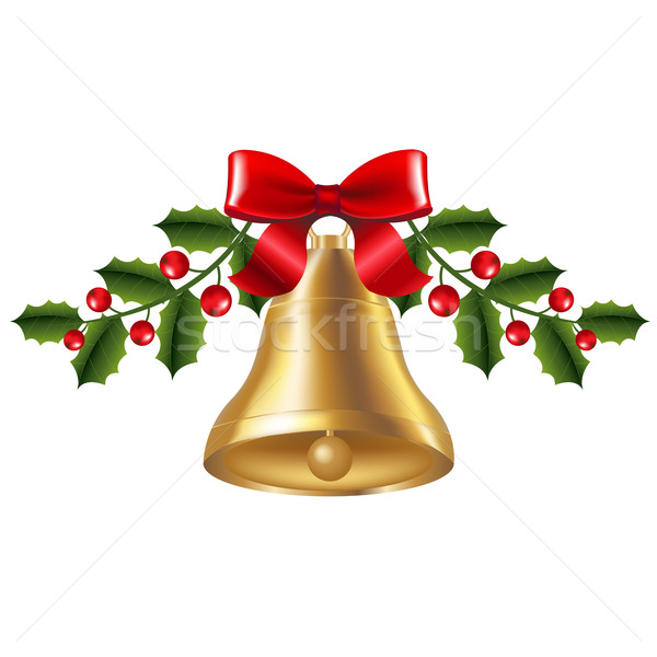 Bell With Holly Berry Stock photo © cammep