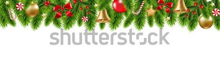 Navidad marco gradiente madera arte Foto stock © cammep