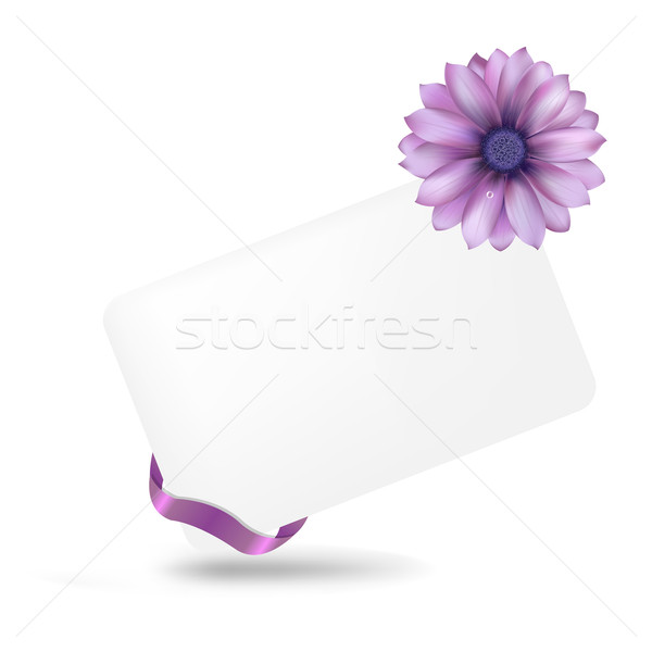 Blank Gift Tag With Gerber Stock photo © cammep