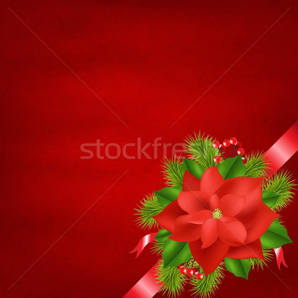 Stok fotoğraf: Kış · çiçek · kırmızı · eğim · kâğıt