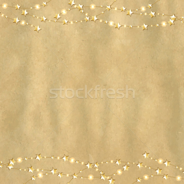 Vintage Cardboard With Gold Stars Stock photo © cammep