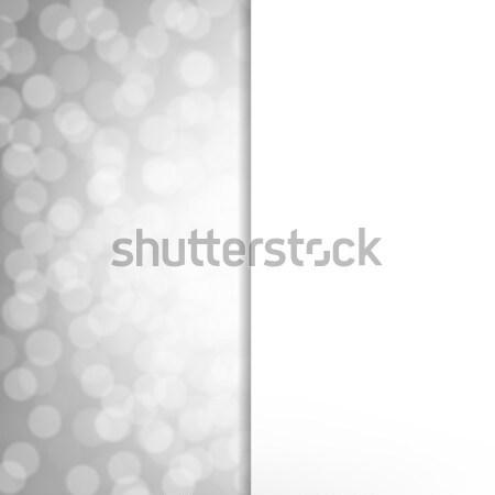 Ezüst csillámlás poszter gradiens háló absztrakt Stock fotó © cammep
