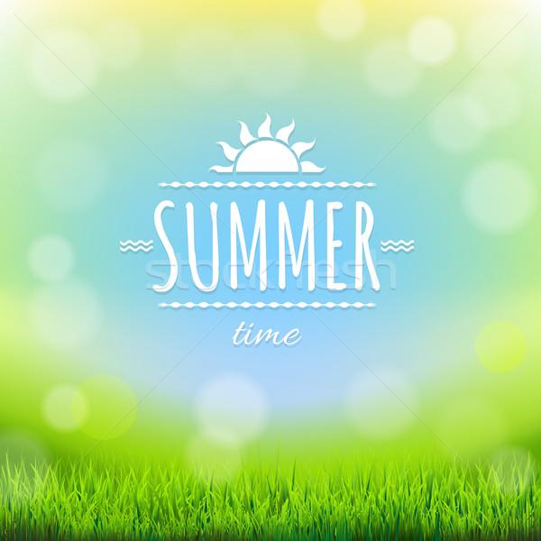 Foto stock: Verão · desconto · bandeira · gradiente · primavera
