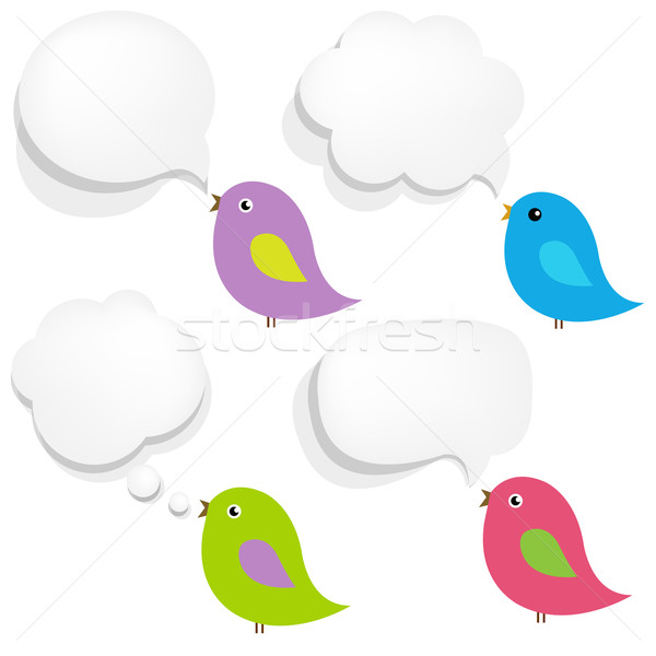 Foto stock: Blanco · papel · bocadillo · aves · gradiente