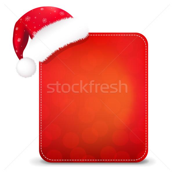 Rosso Natale banner Hat gradiente Foto d'archivio © cammep