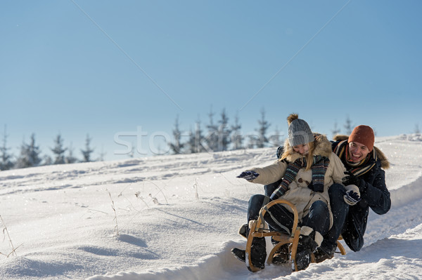 Young playful couple having fun in the snow  Stock photo © CandyboxPhoto