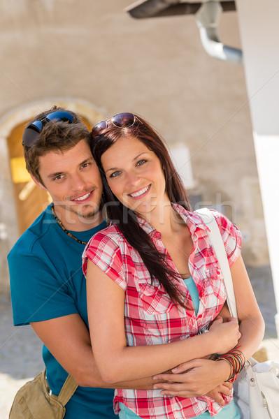 счастливым любви пару улыбаясь город Сток-фото © CandyboxPhoto