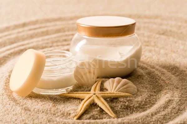 Spa corpo crema conchiglia star sabbia Foto d'archivio © CandyboxPhoto