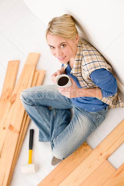 Mejoras para el hogar disfrutar casa beber interior Foto stock © CandyboxPhoto