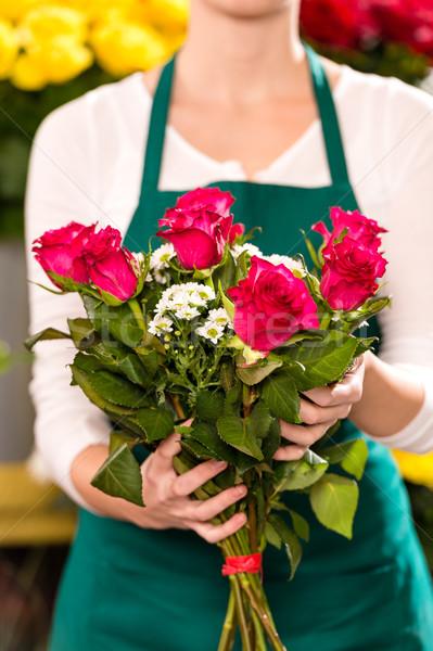 女性 花束 花 バラ 花屋 ストックフォト © CandyboxPhoto