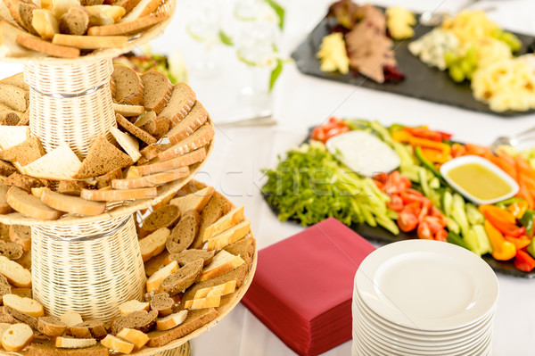 Restauration buffet servi alimentaire banquet table Photo stock © CandyboxPhoto
