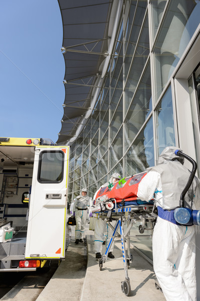 HAZMAT team with stretcher by ambulance Stock photo © CandyboxPhoto