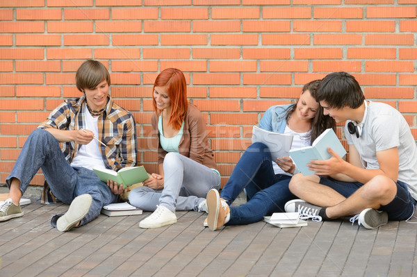 Group of students with books hanging out  Stock photo © CandyboxPhoto
