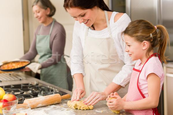 Générations femmes pomme tartes trois Photo stock © CandyboxPhoto