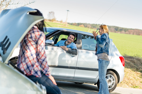 Car troubles girlfriends need help Stock photo © CandyboxPhoto