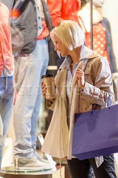 Woman shopping bags enjoy evening city  Stock photo © CandyboxPhoto
