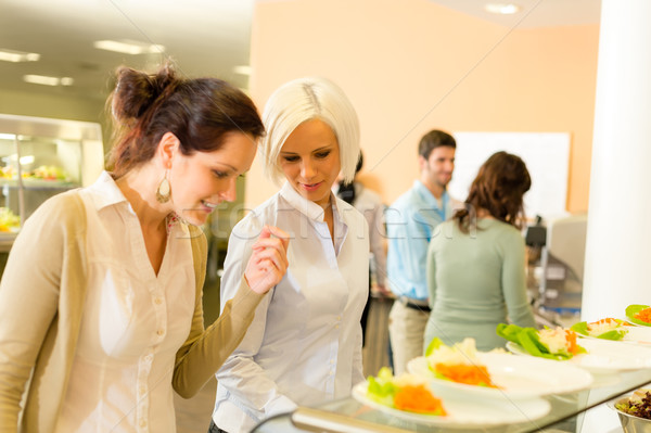 Young business colleagues select canteen lunch Stock photo © CandyboxPhoto