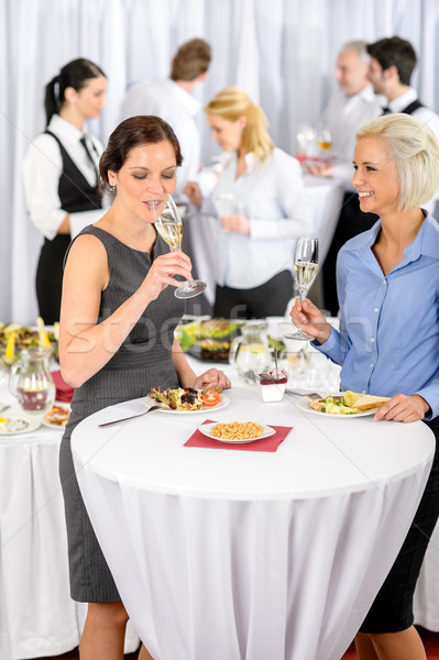 Business women drink aperitif company meeting Stock photo © CandyboxPhoto