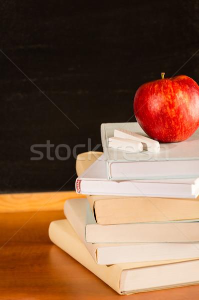 традиционный академический исследование школы книгах яблоко Сток-фото © CandyboxPhoto