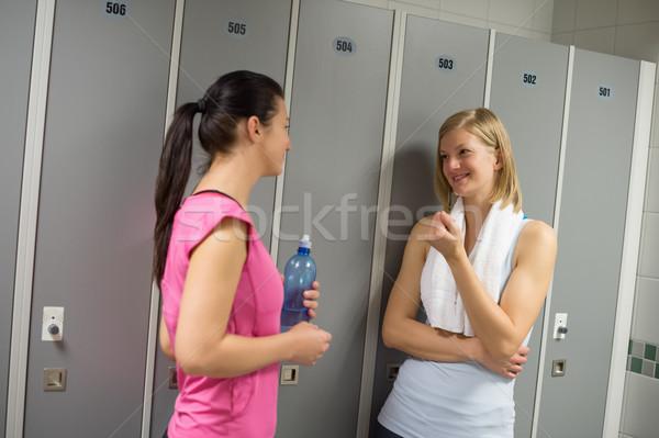 Sport women talking in locker room Stock photo © CandyboxPhoto