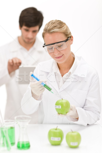 Genetic engineering - scientists in laboratory Stock photo © CandyboxPhoto