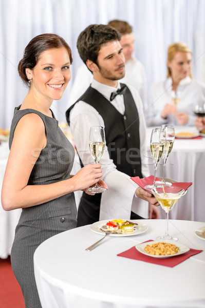 Catering service at company event offer champagne Stock photo © CandyboxPhoto