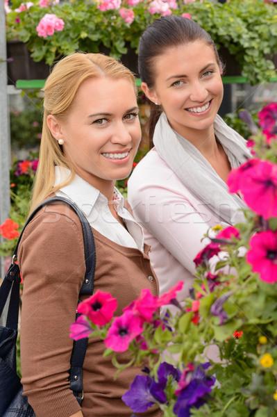 Smiling customer women in garden center Stock photo © CandyboxPhoto