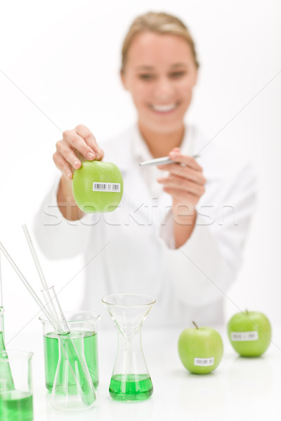 Stockfoto: Genetisch · engineering · wetenschapper · laboratorium · testen