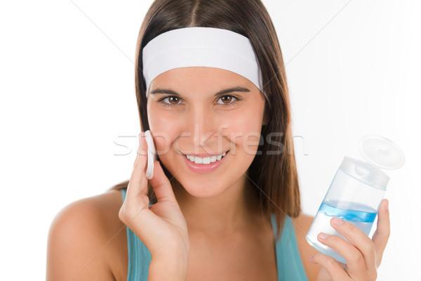 Tinédzser probléma bőrápolás nő tisztít pamut Stock fotó © CandyboxPhoto