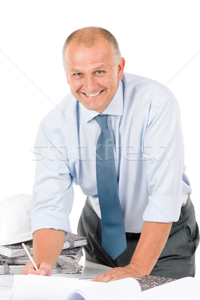 Senior professional architect male with helmet Stock photo © CandyboxPhoto