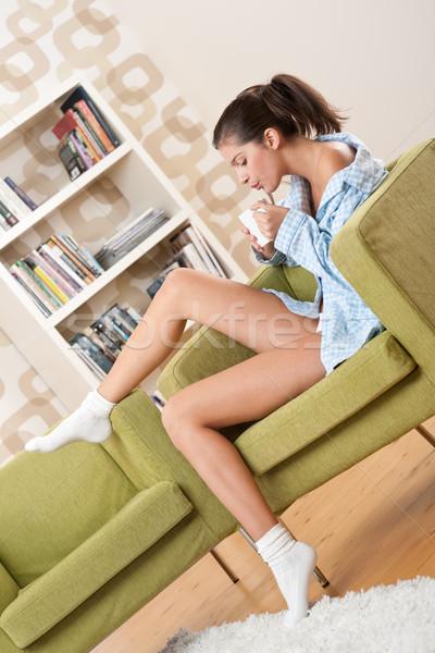 Estudiantes femenino adolescente taza café Foto stock © CandyboxPhoto